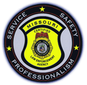 Police badge featuring Service, Safety, Professionalism