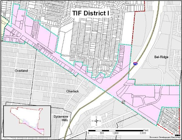 View larger map of TIF District I.