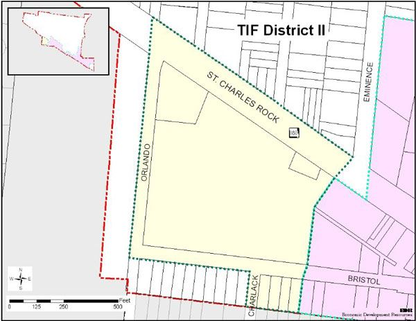 View larger image of the TIF District 2 Map.